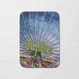 Ferris wheel at the funfair Bath Mat