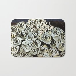 Large Roses and Small Roses Bath Mat