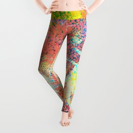 Living Coral abstract Leggings
