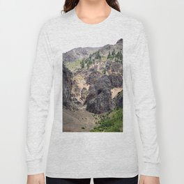 Gold Rush Prospect Hole High Above the Animas River Long Sleeve T-shirt