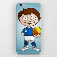 volleyball iPhone & iPod Skins featuring Volleyball player by Jordygraph