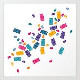 Sweet Jelly Beans & Gummy Bears Art Print