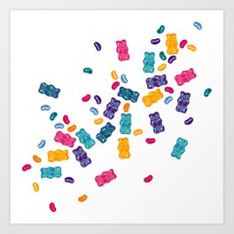 Sweet Jelly Beans & Gummy Bears Art Print