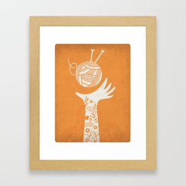 Yarn Love - Orange Framed Art Print