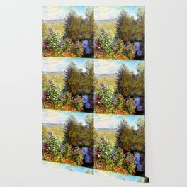 Claude Monet : A Corner of the Garden at Montgeron Wallpaper