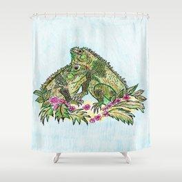 Las Iguanas Shower Curtain