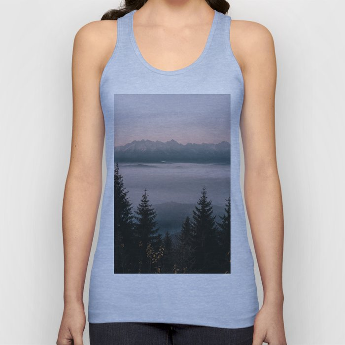 Faraway Mountains - Landscape and Nature Photography Unisex Tank Top