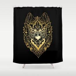 Tribal ethnic wolf Shower Curtain