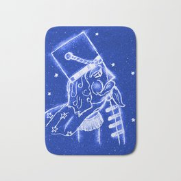 Nutcracker in Bright Blue Bath Mat