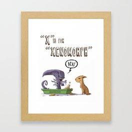 """""""X"""" Is For """"Xenomorph"""" Framed Art Print"""