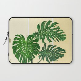 Monstera on Yellows Laptop Sleeve