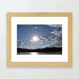 Sun Over Lake in White Mountains Arizona Framed Art Print