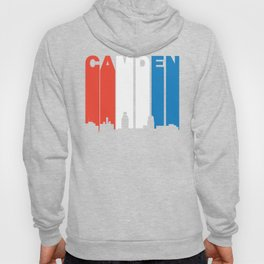 Red White And Blue Camden New Jersey Skyline Hoody