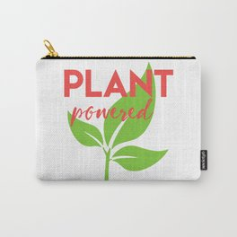 PLANT POWERED vegan quote Carry-All Pouch
