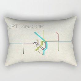 Minimal Portland, OR Metro Map Rectangular Pillow