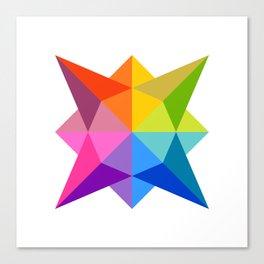 Celestial Rainbow Star Canvas Print