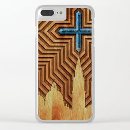 Venice - King of the sea - Wood decoration Clear iPhone Case