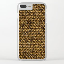 Beautiful HOME - knitted texture patterns Clear iPhone Case