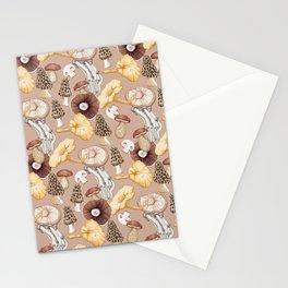 Mushroom Lovers Pattern Stationery Cards