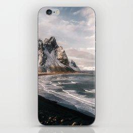 Stokksnes Icelandic Mountain Beach Sunset - Landscape Photography iPhone Skin