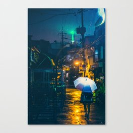 Euljiro in the rain Canvas Print