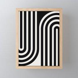 Minimal Line Curvature - Black and White III Framed Mini Art Print