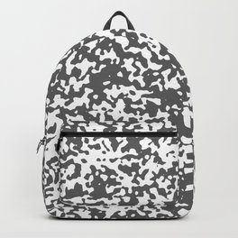 Small Spots - White and Dark Gray Backpack