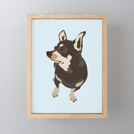 Hopeful Dog Framed Mini Art Print
