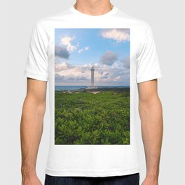 Zanpa Lighthouse with Blue Skies T-shirt