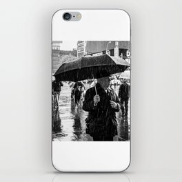 It rains in Times Square iPhone Skin