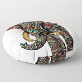 Ornate Elephant (Color Version) Floor Pillow