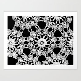 lace ornament Art Print