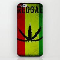 reggae iPhone & iPod Skins featuring REGGAE by shannon's art space