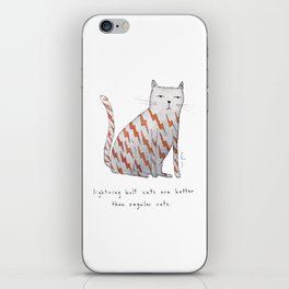 lightning bolt cats are better iPhone Skin