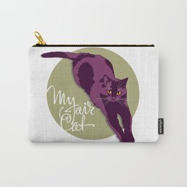 My fair cat in the purple Carry-All Pouch
