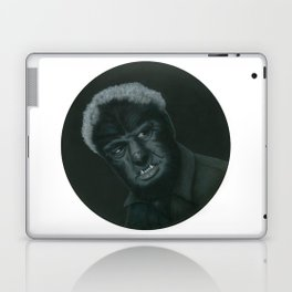 The Wolf Man on vinyl record print Laptop & iPad Skin
