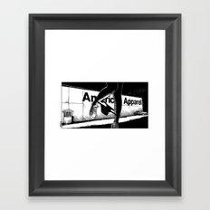 asc 503 - La vente à la sauvette (The backyard sale) Framed Art Print