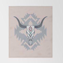 Bull skull Throw Blanket