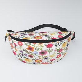 Summer Flowers Hand-drawn Watercolor Illustration Fanny Pack