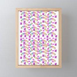 Curves, Xs and Ovals Framed Mini Art Print