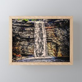 Mesmerizing Waterfalls! Framed Mini Art Print
