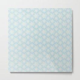 fiocchi di neve blu Metal Print