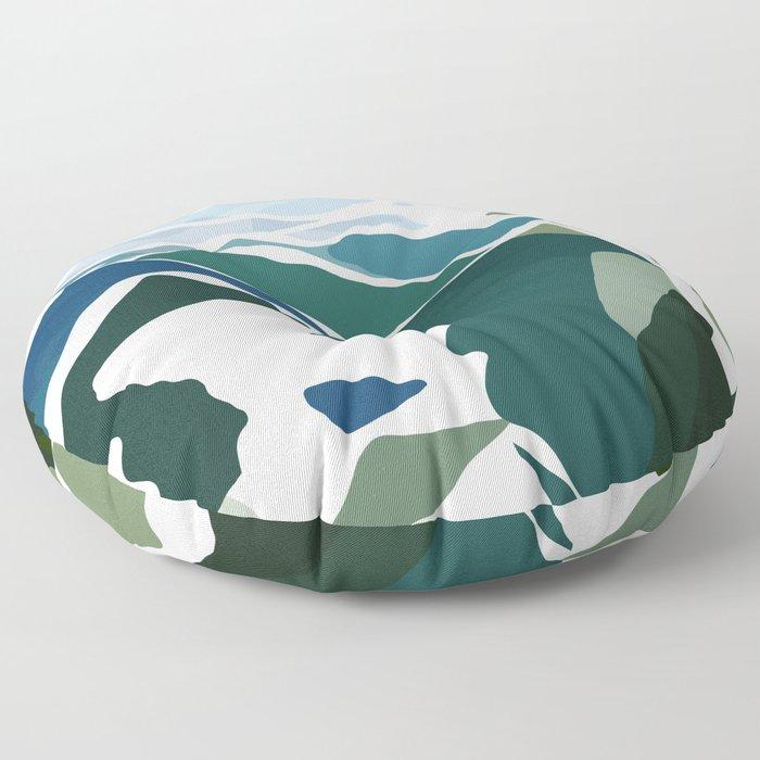 green mountains Floor Pillow