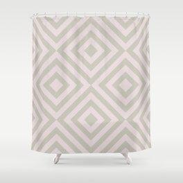 MONO:CHROMA Geometrica Earthy Pink Shower Curtain