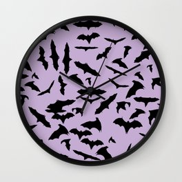 Bats Crocus Petals Wall Clock