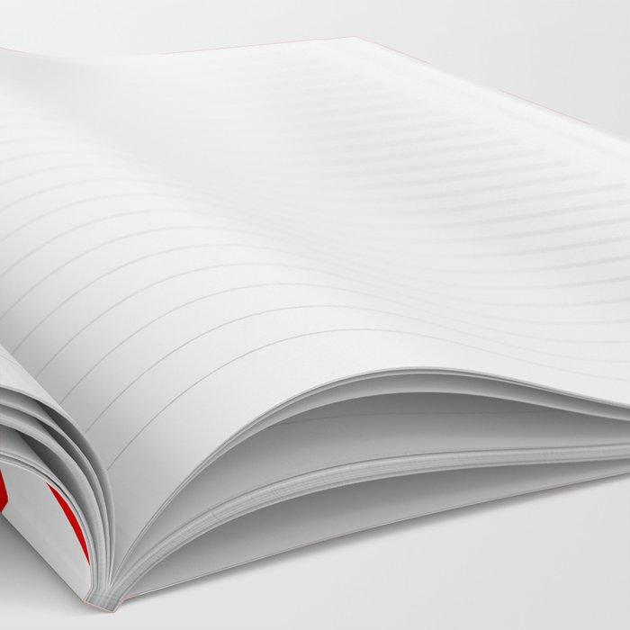 Chevron Red White Notebook