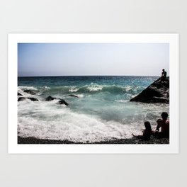 Family at the Beach Art Print