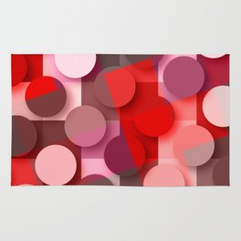 dots & squares red Rug