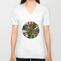 decorative V-neck T-shirts featuring Decorative Glass by Klara Acel