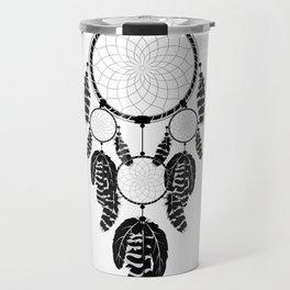 Dream catcher silhouette Travel Mug